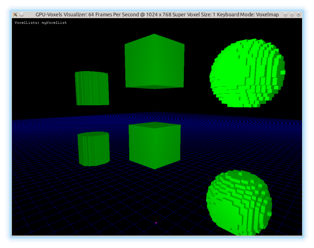 The new GeometryGeneration example as seen in gpu_voxels_visualizer