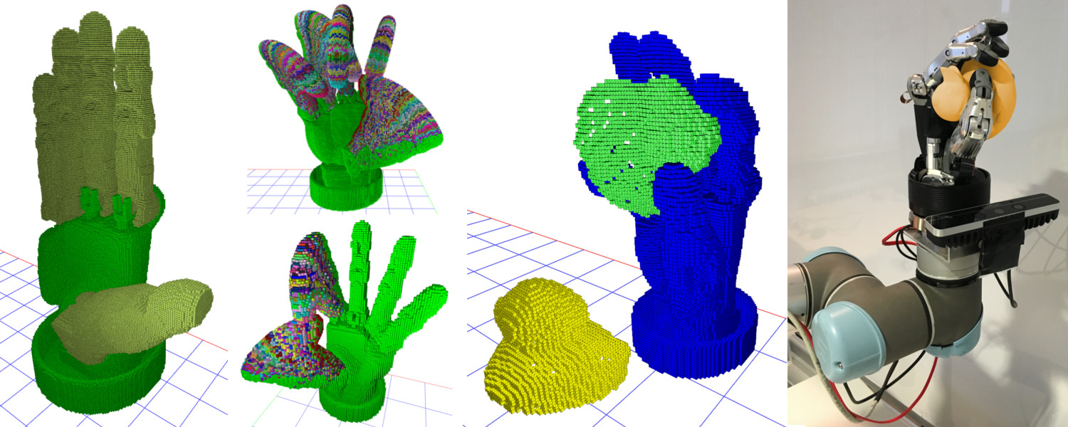 Online grasp planning based on pointclouds of in-hand-camera